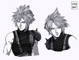 FFVII REMAKE: Cloud Strife, sketches! by LadyYomi