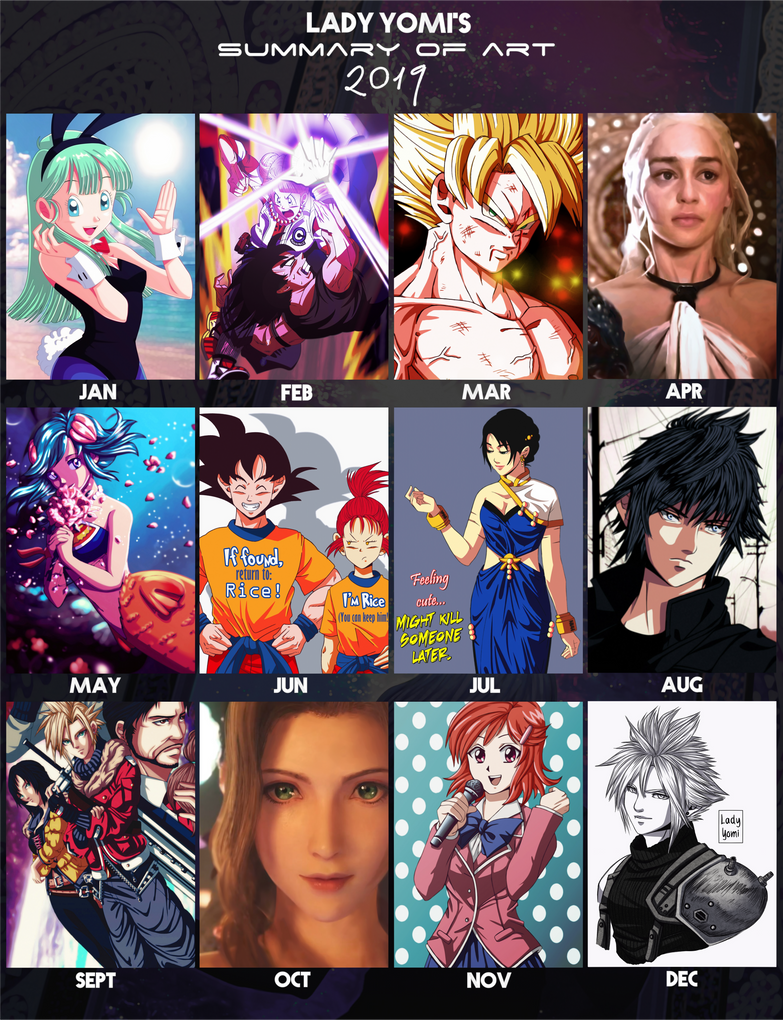 2019 Art summary: Lady Yomi!