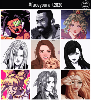 Face your art challenge: Lady Yomi, 2020!