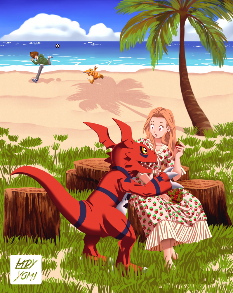 Digimon OC: Strawberry dress April!