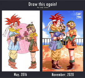 Draw it again: Crono and Lucca, remake!