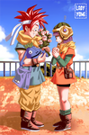 Gift art: Crono and Lucca, remake! by LadyYomi