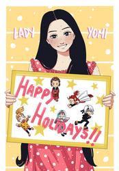 Happy Holidays 2020: Lady Yomi + OCs!