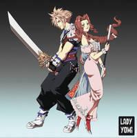 FF7: Amano Illustration Redraw | Clerith! by LadyYomi