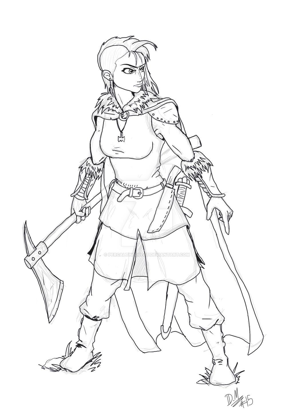 Female viking warrior. by PercalTheGreat on DeviantArt
