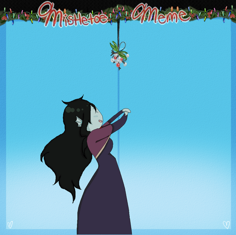 Mistletoe Meme: Milagros Flores Aka Shark Princess by Lolita64