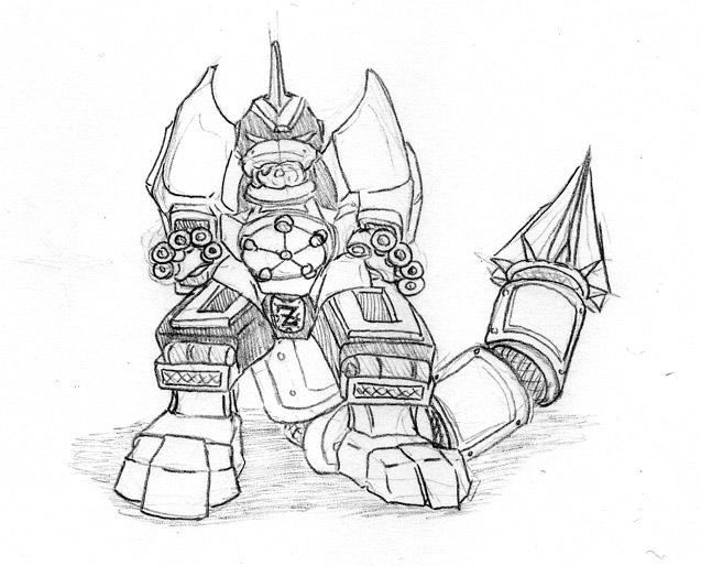 Animal coloring pages zords coloring pages for Power rangers megazord coloring pages
