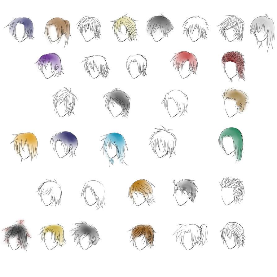 Anime Guy Long Blue Hair Anime Guy Hair Styles by