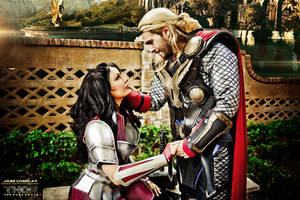 THOR AND SIF COSPLAY