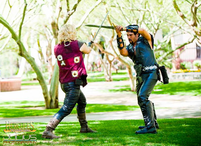 Iolaus VS Ares Cosplay by captainjaze