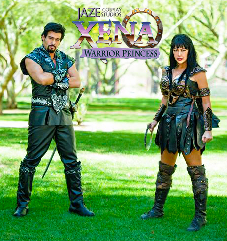 Ares God of War and Xena Cosplay by captainjaze