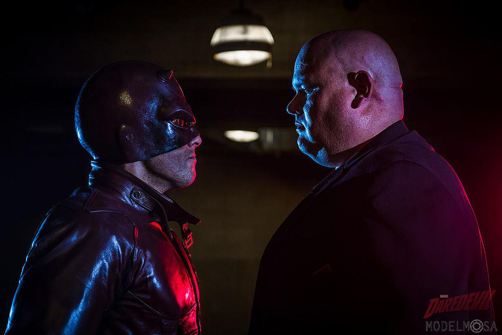 Daredevil and KINGPIN Cosplay by captainjaze