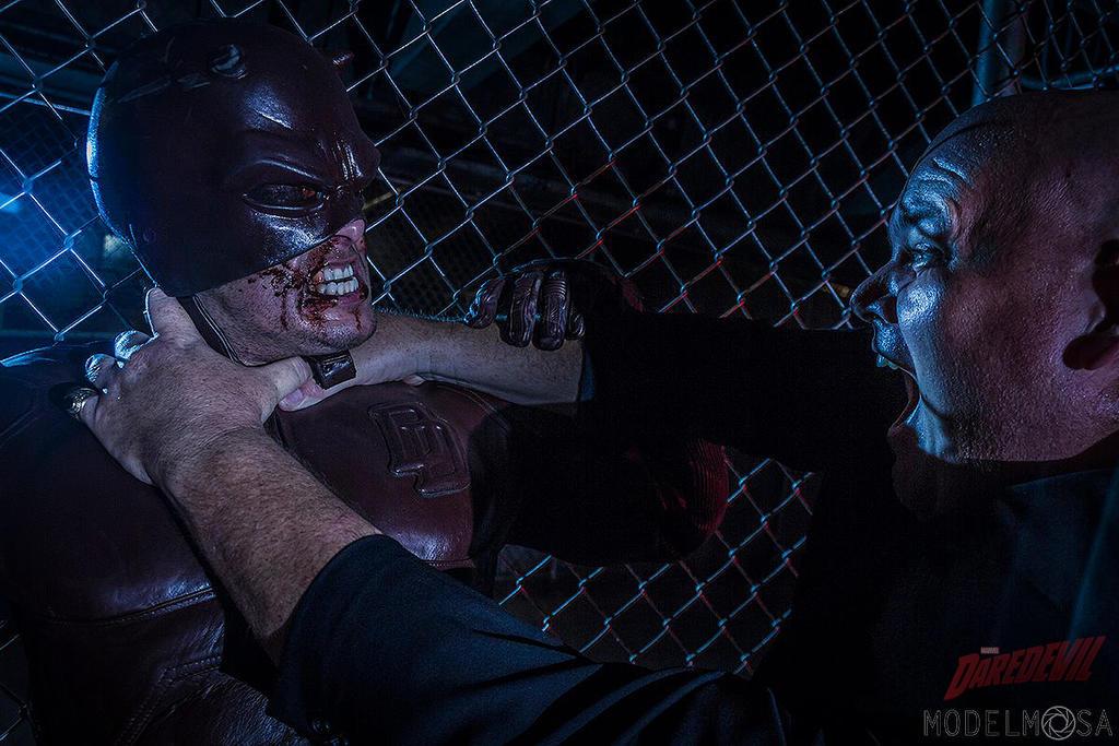 Daredevil vs. KINGPIN Cosplay by captainjaze