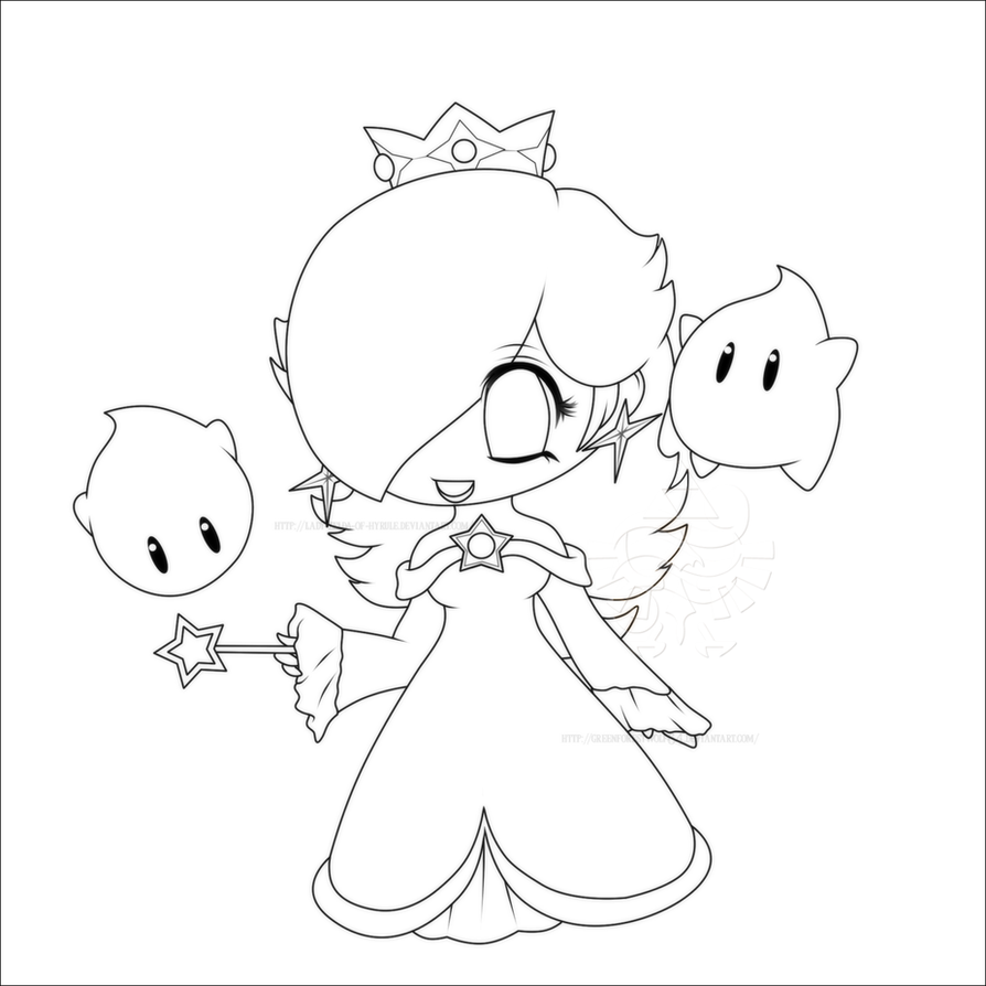 Chibi Rosalina Lines By Lady Zelda Of Hyrule On Deviantart Chibi Princess Rosalina Free Coloring Sheets