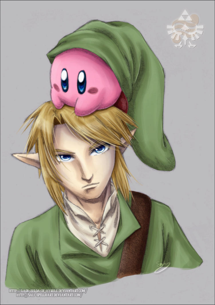 Link and Kirby Colour by Lady-Zelda-of-Hyrule