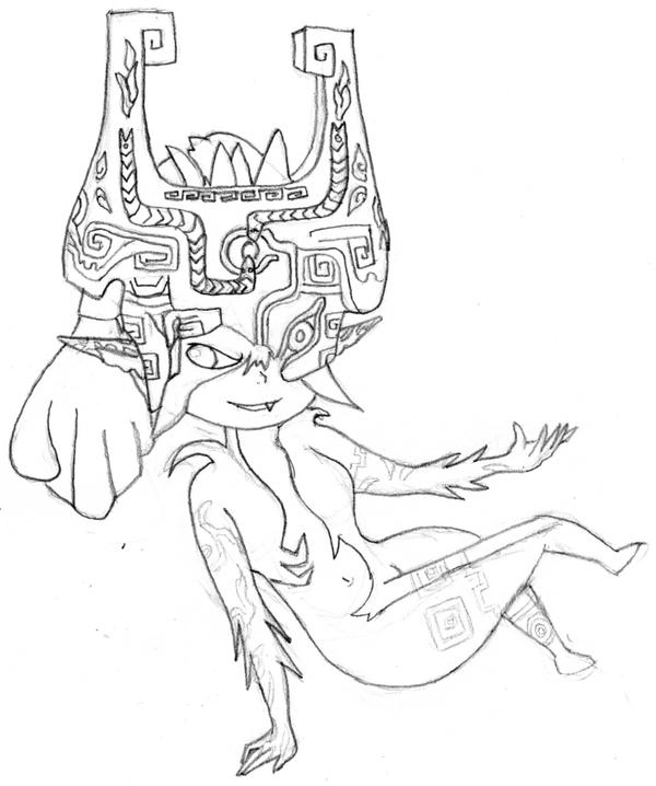 Midna by lady zelda of hyrule on deviantart for Midna coloring pages