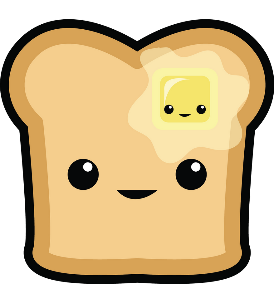 happy toast  happy butter by fai is sexy on deviantart Breakfast Clip Art french toast images clip art