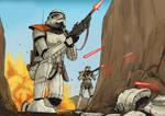 Star Wars - Ambushed Troopers (Timelapse)