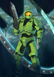 Halo - Master Chief (Timelapse) by SirDanielsArt