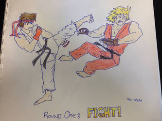 Ryu Kicking Ken - colour by thuaners