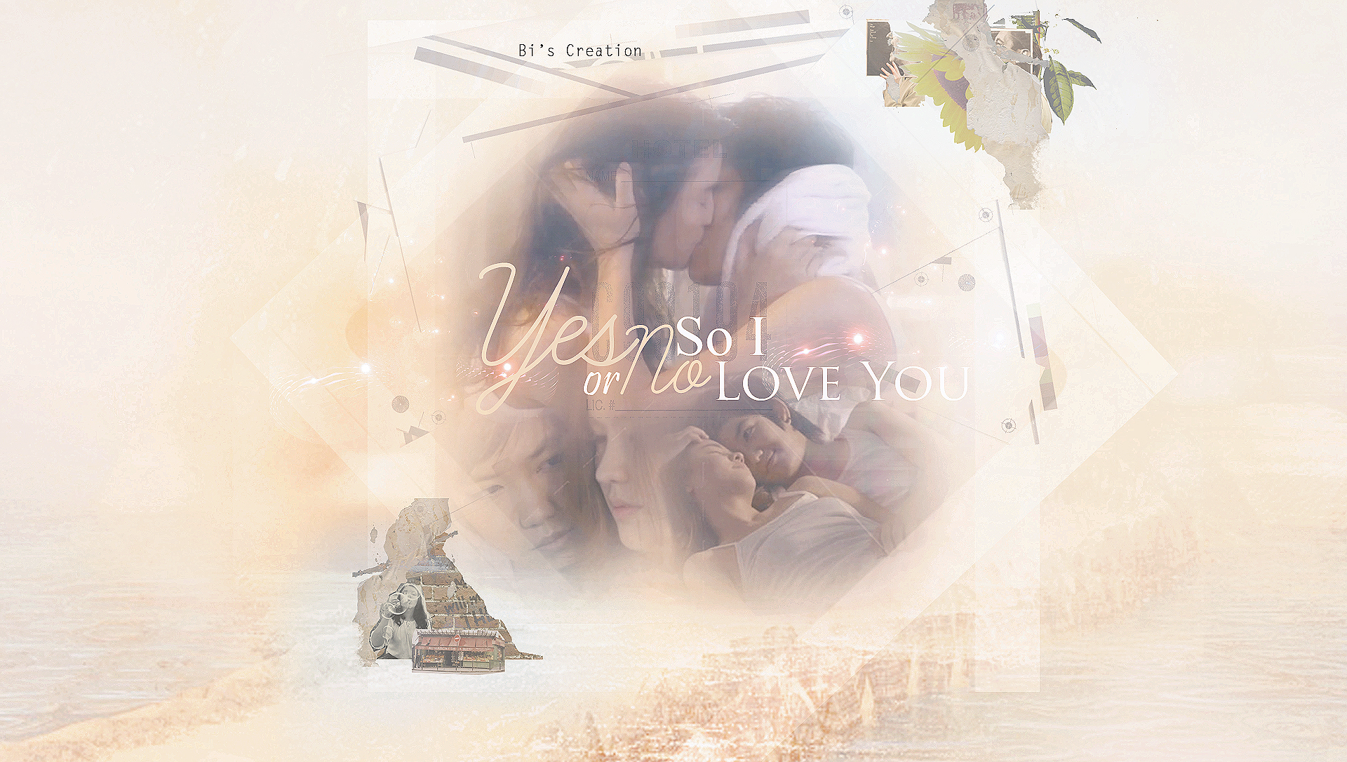 Yes or No ,  so I love you + PSD file by BiLyBao