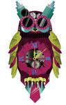 Steampunk  Owl Clock