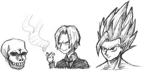 manga sketches by castiboy