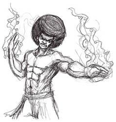 Afro Karateka by castiboy