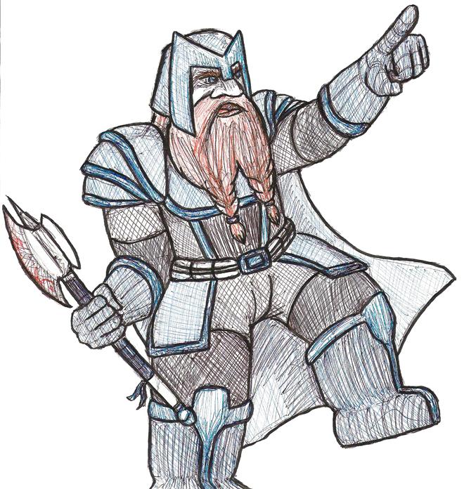 wow obsessed dwarf warrior by castiboy