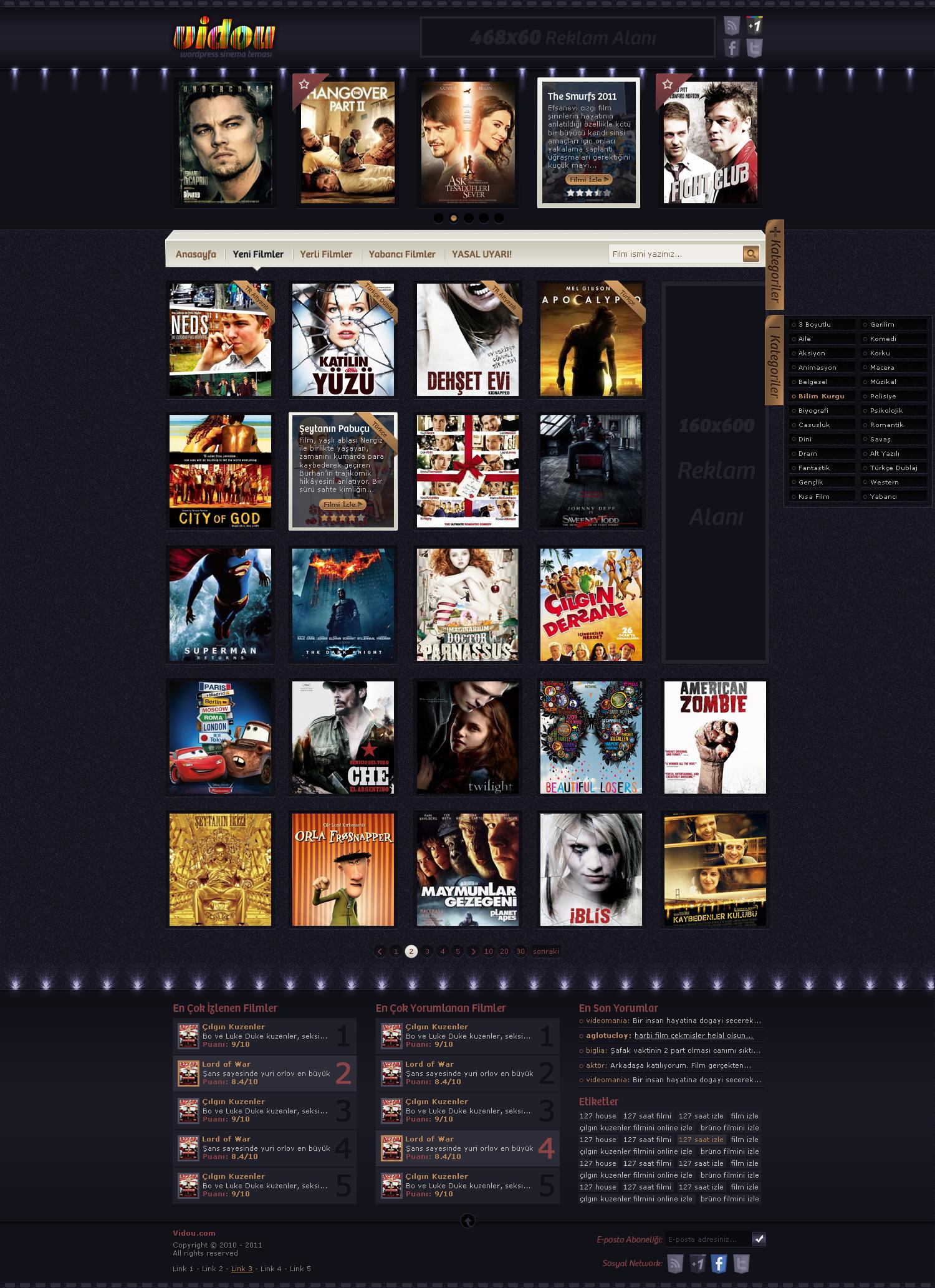 wordpress movie theme