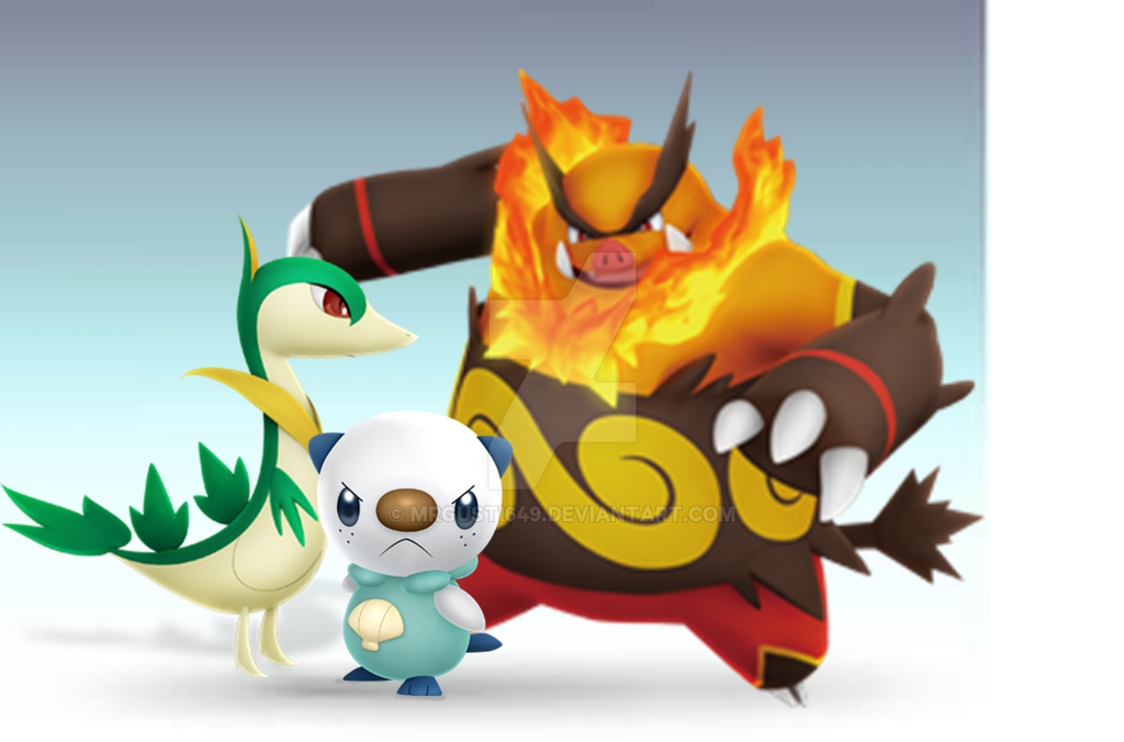 Pokemon Black And White Starters In Ssbb 406178198