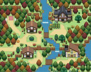 Pokemon Map: Windenbrook Village by Sun-Bean