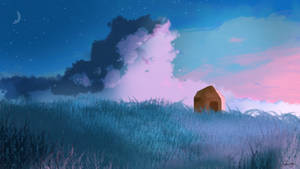 Alone in the field - Landscape
