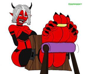 TICKLESTOCKER : Red Demon [COMMISSION] by doompoort