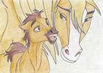 Spirit and his mother by Aleirina