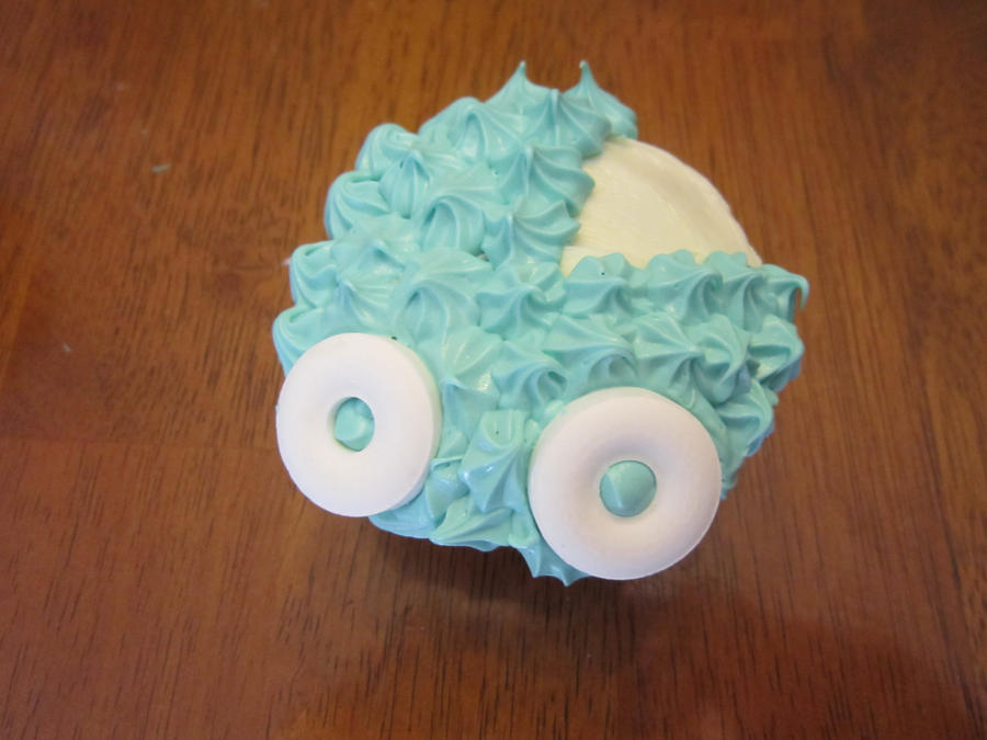 baby shower cupcakes baby carriage boy by angel of tricks d557qbs