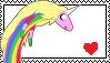Lady Rainicorn Stamp by XxXCuteBunnyXxX