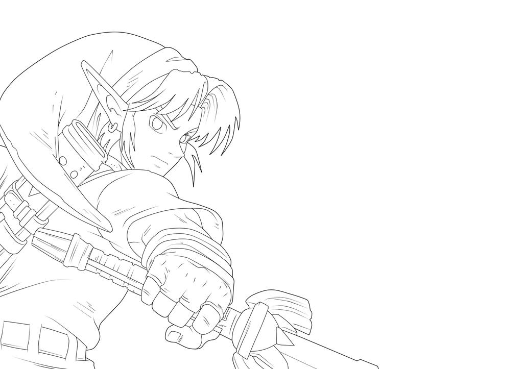 Line Art Zelda : Link lineart by moxie d on deviantart