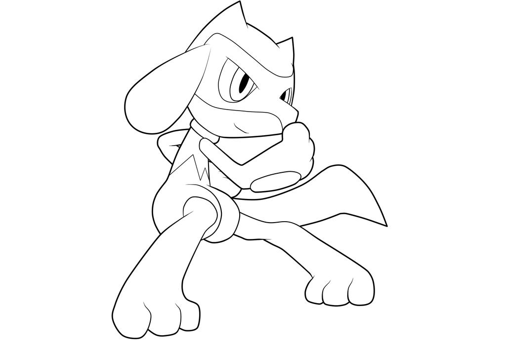 pokemon coloring pages lucario - riolu lineart by moxie2d on deviantart