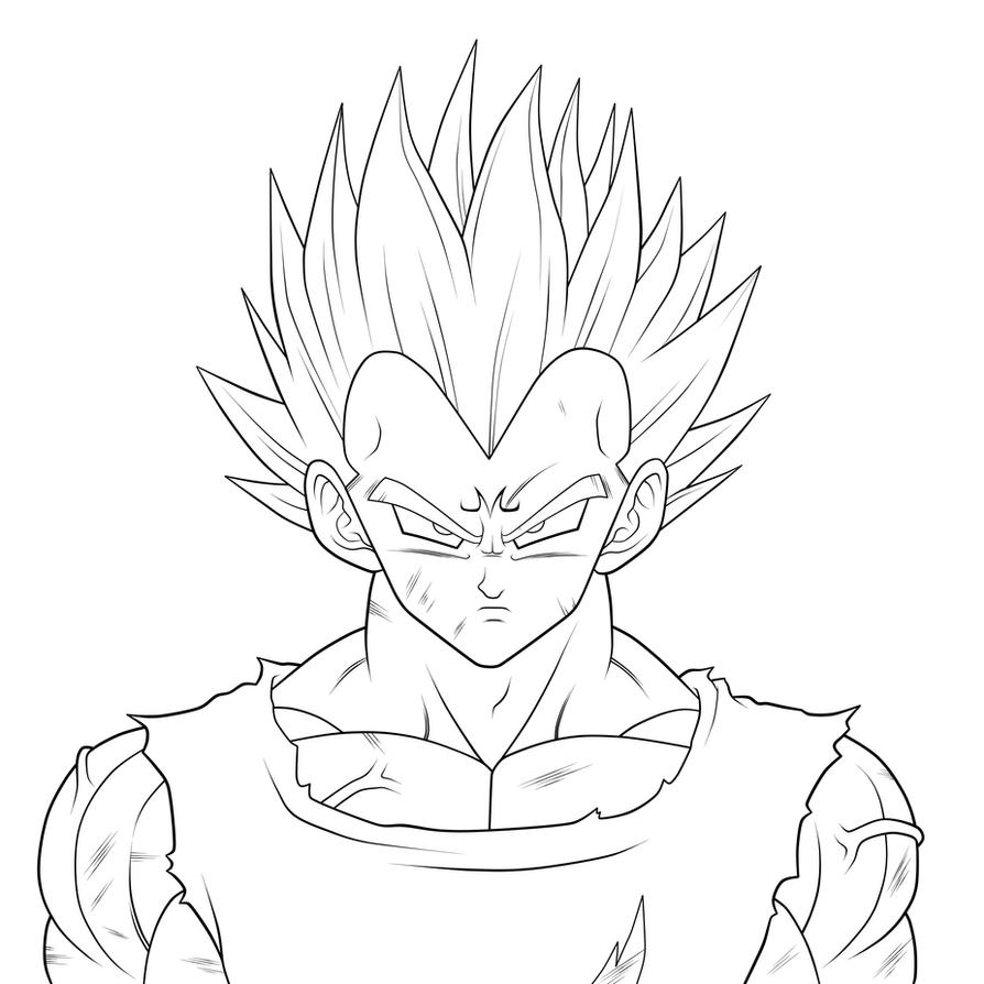 Dragon Ball z Majin Vegeta Drawing Dbz Majin Vegeta Drawings