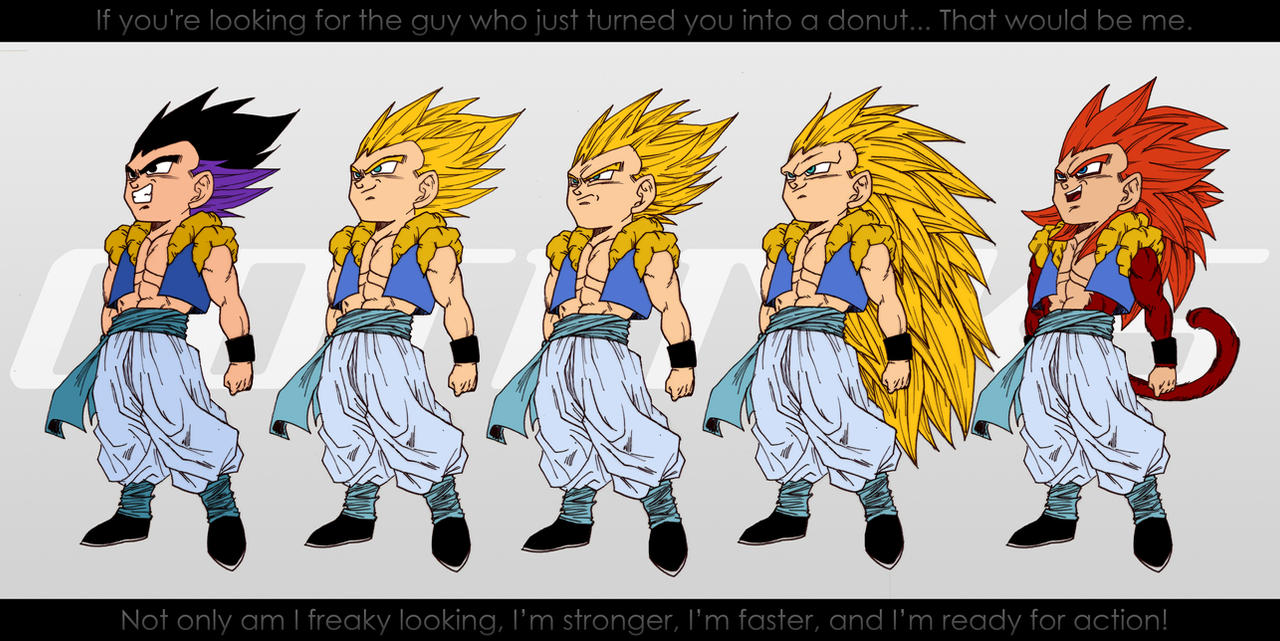 All Forms of Gogeta. by moxie2D on DeviantArt