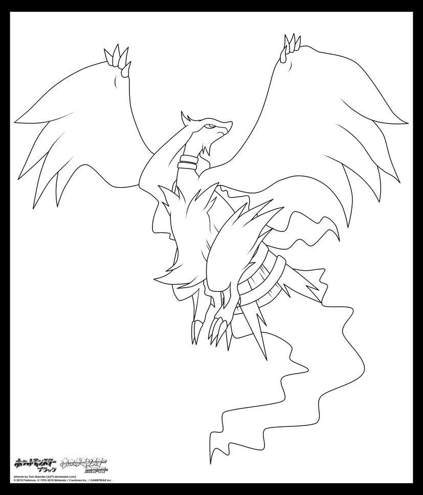 zekrom ex coloring pages | Reshiram. :Lineart: by moxie2D on DeviantArt