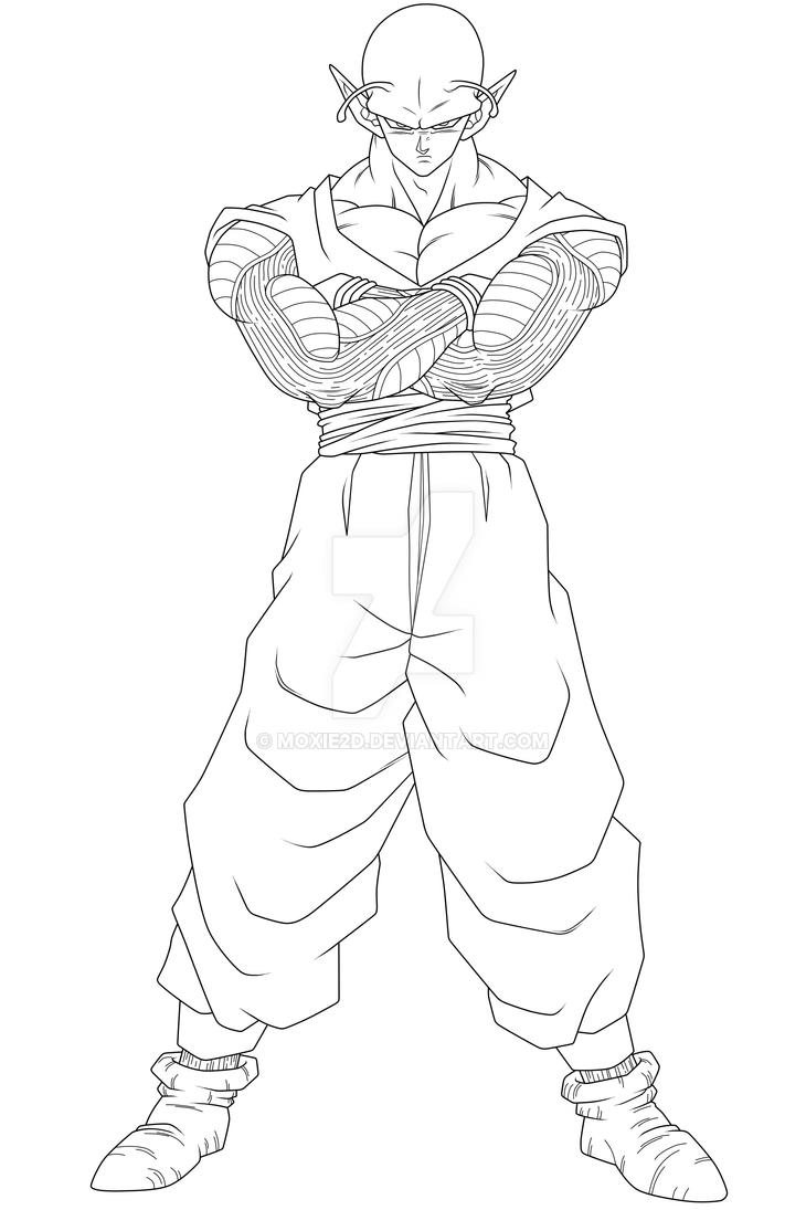 Piccolo Lineart By Moxie2d On Deviantart