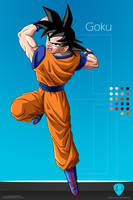 Goku :Commission: by moxie2D