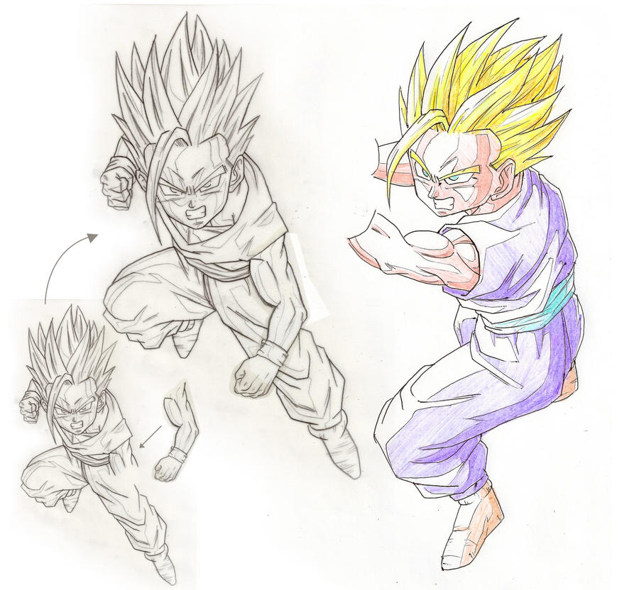 How To Draw Kid Goku Kamehameha