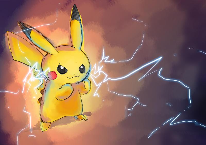 Pikachu sketch by moxie2D
