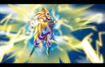 SSj3 Vegeta: True Final Flash by moxie2D