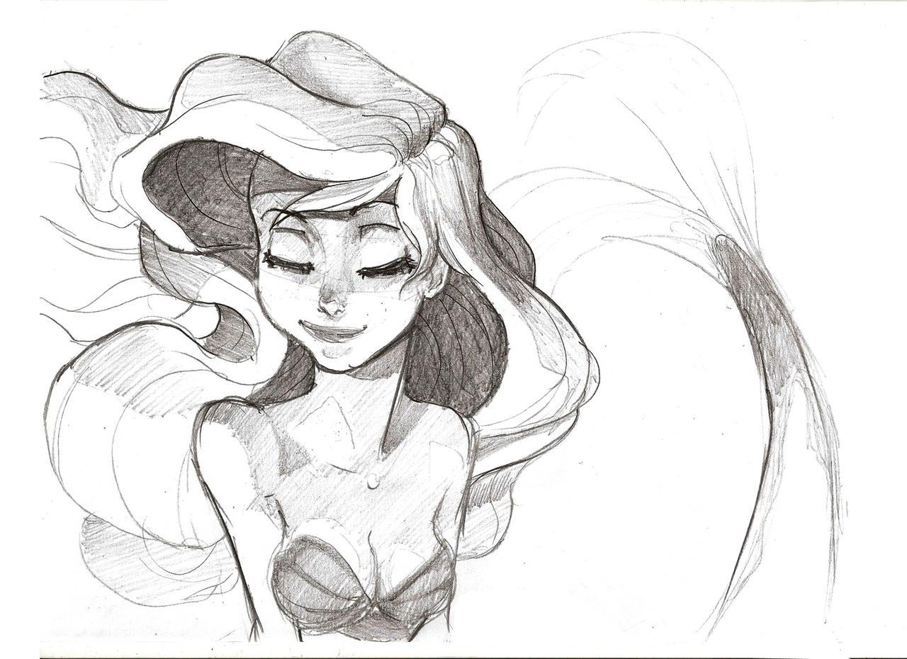 DeviantArt More Artists Like Mermaid Sketch