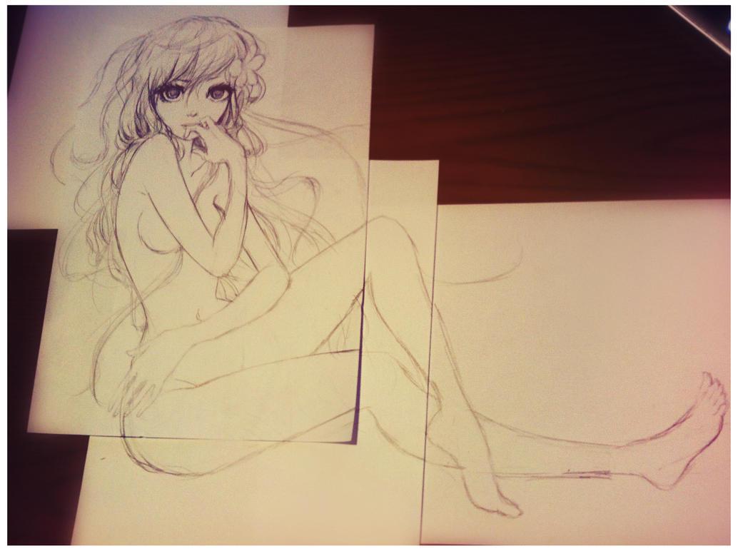 random nude anime girl sketch photomoxie2d on deviantart