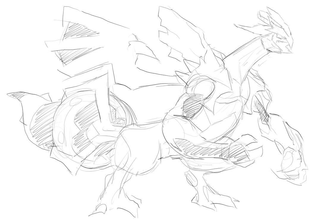 Black Kyurem :Sketch: by moxie2D on DeviantArt